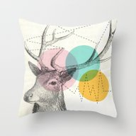 Throw Pillow featuring Stitch Doe by Vin Zzep