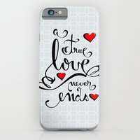 iPhone & iPod Case featuring Valentine Love Calligraphy and Hearts by Ruxique