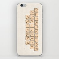 Qwerty Scrabble  iPhone & iPod Skin