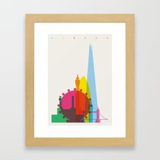 Shapes Of London. Accura… Framed Art Print