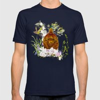 Happy buddha Mens Fitted Tee Navy SMALL