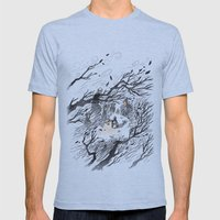 Could It Be The Wind? Mens Fitted Tee Athletic Blue SMALL