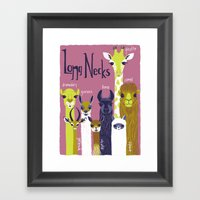 long necks Framed Art Print