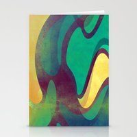 waves Stationery Cards featuring Waves by VessDSign