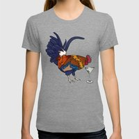 Cocktails Womens Fitted Tee Tri-Grey SMALL