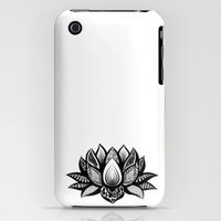 iPhone 3Gs & iPhone 3G Cases featuring Ornate Lotus by ZantosDesign