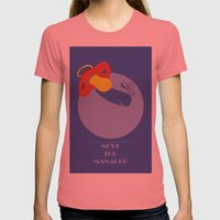 Next Top Manager Womens Fitted Tee Pomegranate SMALL