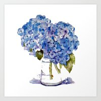 Hydrangea Painting Art Print