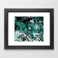 Turquoise Bubbles Photog… Framed Art Print