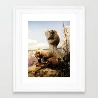 Tree Sitter Framed Art Print