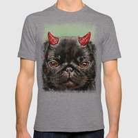 Black Pug Mens Fitted Tee Tri-Grey SMALL