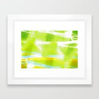 In Between Yellow, Green and Blue - JUSTART © Framed Art Print