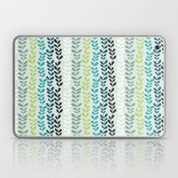 Blue and mint floral Laptop & iPad Skin