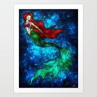 The Mermaids Song Art Print
