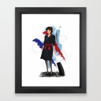 Come fly with me, let's fly, let's fly away - France Framed Art Print
