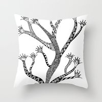 Alluring Tree Throw Pillow
