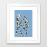 Two Seahorses Framed Art Print