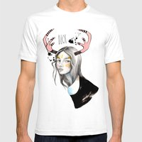 Buck Mens Fitted Tee White SMALL