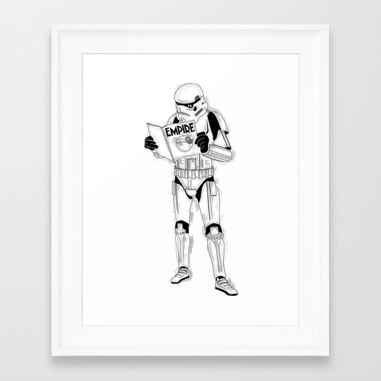 Stormtrooper Empire  Framed Art Print
