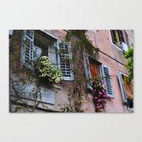 The Flower Building Canvas Print