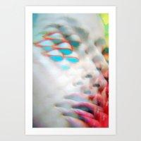 Electric Vision Blue Eyes Art Print