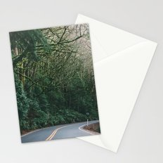 drive through the woods Stationery Cards