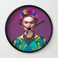 Frida Kahlo-Trendy  Wall Clock