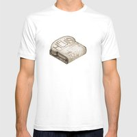 Info Toaster Mens Fitted Tee White SMALL
