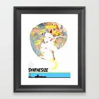 SYNTHESIZE Framed Art Print