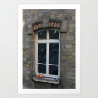 Window with oranges Art Print