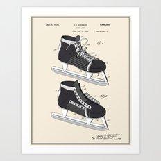 Hockey Skate Patent - Colour Art Print