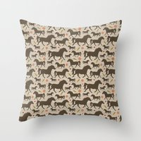 Ponies, Peppermints, Car… Throw Pillow