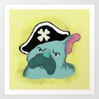 French Bulldog The Pirat… Art Print
