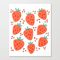 Strawberry Patch Canvas Print