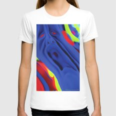 The Scream Womens Fitted Tee White SMALL