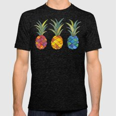 Pineapples Mens Fitted Tee Tri-Black SMALL