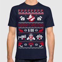 Murray Christmas (2013) Mens Fitted Tee Navy SMALL