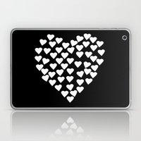 Hearts On Heart White On… Laptop & iPad Skin