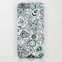 Aqua Paisley iPhone 6 Slim Case