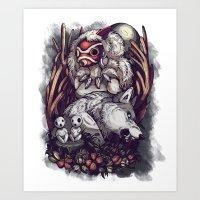 Mononoke Background Art Print