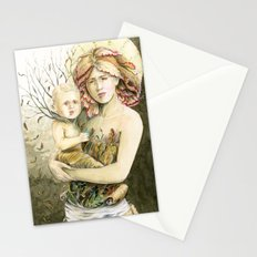 Mother Earth to her child Stationery Cards