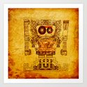 The last divinity musical of the Mayan empire Art Print