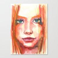 Portrait - RedHair & Fre… Canvas Print