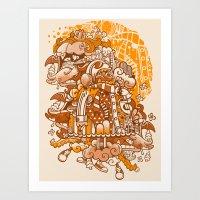 Ginger Monsterous Art Print