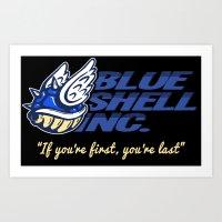 Mario Kart: Blue Shell Inc (no distressing) Art Print