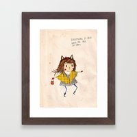 Cat Ears Framed Art Print