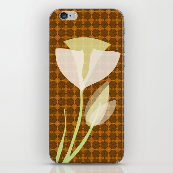 Modern Poppy Flower iPhone & iPod Skin