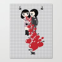 Lady & Lord Valentine's Canvas Print