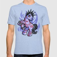 My Punkrock Pony Mens Fitted Tee Tri-Blue SMALL