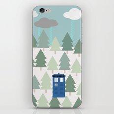 TARDIS lands in the Pacific Northwest Pine Tree Forest - Oregon, Washington, Portland, PDX, Seattle iPhone & iPod Skin